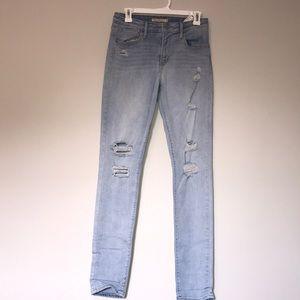 Levis distressed 721 hi rise skinny jeans 29 x 32